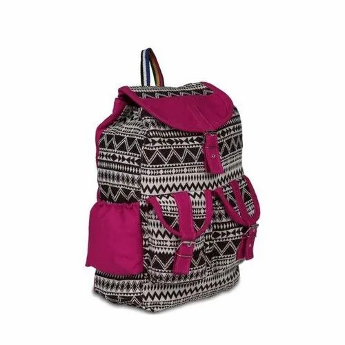 Printed Canvas Ladies Backpack