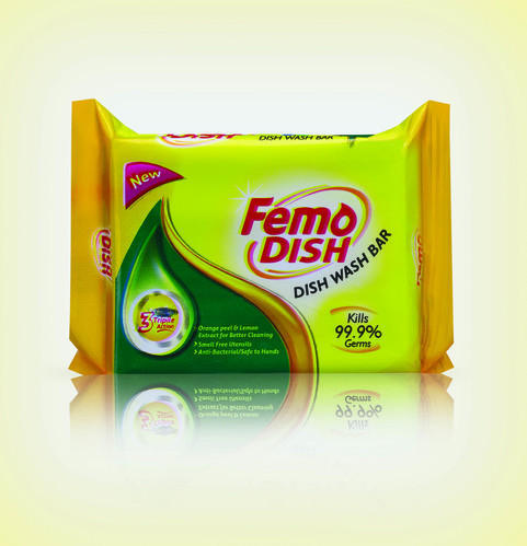 Femo Dish lemon wash bar, Pack Size: 250 g