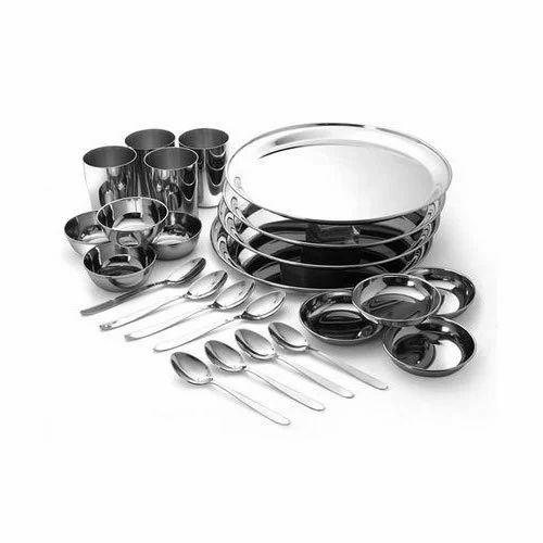 Stainless Steel Dinner Set At Rs 800 Set Ss Dinner Set