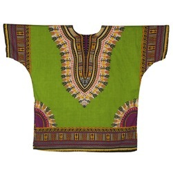 Printed Cotton Dashiki Shirt, Size: XXL