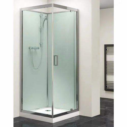 Transparent Glass And Aluminium Shower Cubicals, Shape: Square