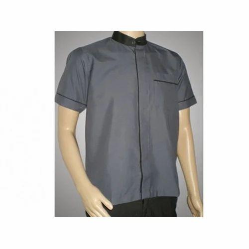 Kitchen Steward: Grey Cotton Kitchen Uniform Shirt, Rs 375 /piece, Unismart