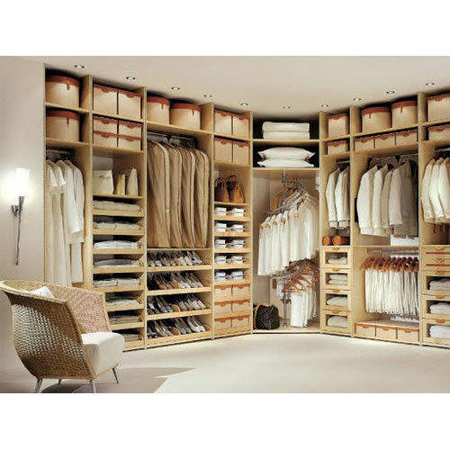 Custom Closet Ideas Designs: Open Wooden Polished Wardrobe, Height: 8 Feet, Rs 900