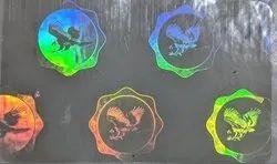 Custom Hologram Transparent Overlay For Paper Plastic Cards