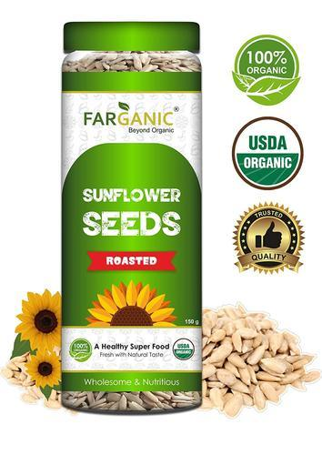 Farganic Organic Fresh And Healthy Premium Roasted Sunflower Seeds