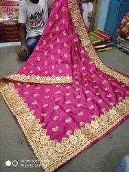 Dupion Red Silk Fabric