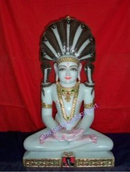 God Parshav Nath Marble Statue
