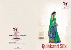 Gulakand Silk Nylon Art Silk Saree By Yadu Nandan Fashion
