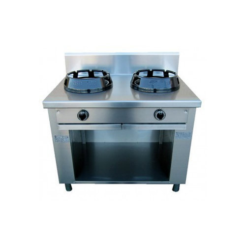 Two Burner Chinese Cooking Range, Usage: For Cooking