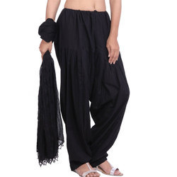 Black Patiala Salwar and Dupatta Set