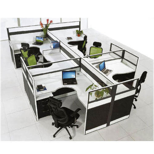 Plywood Cubical Office Workstation