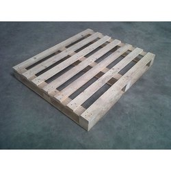 Rectangular Hardwood Industrial Wooden Pallet, Capacity: 100- 400 Kg, for Shipping