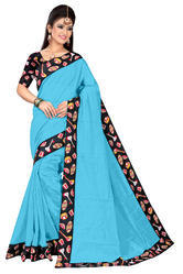 Chanderi Cotton Saree With Blouse Piece