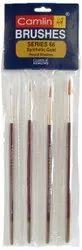 Hog Hair Camel Paint Brush Series 66 - Round Synthetic Gold, Set of 4
