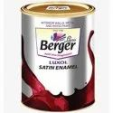 High Gloss Water Based Paint Berger Luxol Satin Enamel, For Interior Walls, Wood And Metal, Packaging Type: Bucket