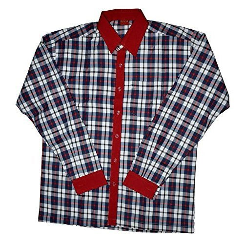 Cotton Check Boys School Shirt, Age Group: 3-15 Years