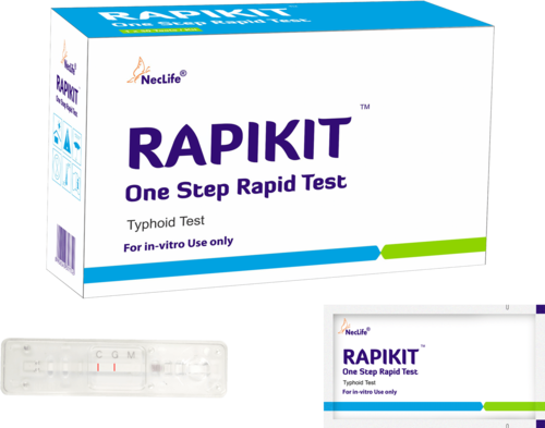 RAPIKIT Card Typhoid Rapid Test Device  for Hospital, Size: 4mm