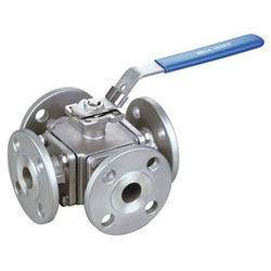 4 Way Flanged Ball Valve