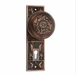 Eden Brass Door Knob with Plate