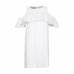 Mini Macaroons White Girl's Dress