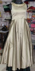 Kamini Fashion Stitched Ladies Silk Gown, Size: S-XL