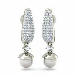 Zevrr 92.5 Silver Drop Earrings