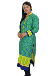 Multi Color College And Family Event D&M Women Beautiful Printed Kurti