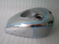 New Triumph Tiger 90 Silver Painted Chromed Petrol Tank Pre War Model (Rep)