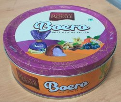 Printed Round  choclate Tin container