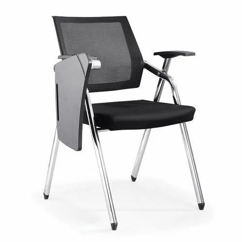 Cube Black Writing Pad Student Chair