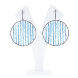 Chic Designs Colour Glass Bead Earrings Jewelry, Size: 54X40 mm