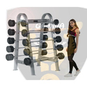 10 Bar Set With Rack