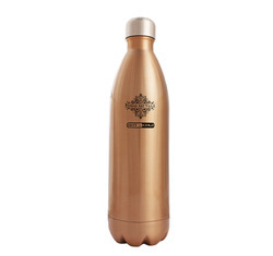 Brown Steel Insulated Vacuum Bottle, 1000 ML, For Drink Ware