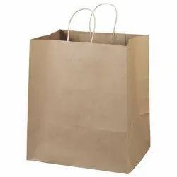 棕色牛皮纸购物袋,大小:25 x 13 x 33厘米
