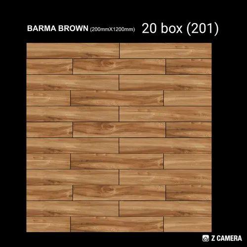 "Kajaria/ Somany/ Nitco/ AGL/ Soriso/ Finstone 200X1200 MM / 8"" X 48""  / Vitrified Wooden Finish Tile"