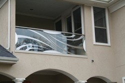 Froasted Glass Railing