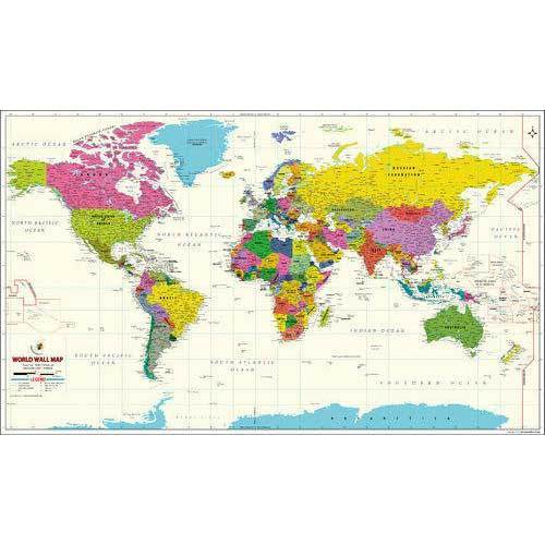 Vinyl Vivid World Map Size 42 3x62 5 Inches Rs 3000 Piece Id