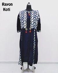 Designer Long Rayon Kurti