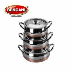 Steel Handi Set, for Hotel/Restaurant