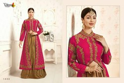 Veer Vol-1 Volono Trendz Wedding Wear For Full Embroidery Work Designer Indo-Western Dresses
