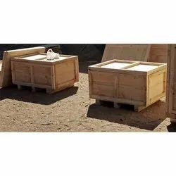 Brown Wooden Rectangular Packaging Box