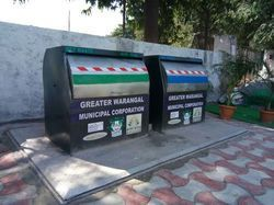 Underground Bins With Refuse Compactor