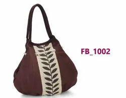Dark Brown Printed Jute Hand Bag, Model Name/Number: Fb 1002