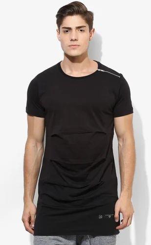 7c23c037deaa Black Burdeau Extra Long Line T-Shirts, Size: Medium, Large, XL, Rs ...