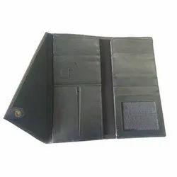 Black Genuine Leather Passport Travel Wallet
