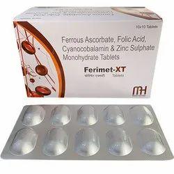Ferrous Ascorbate Folic Acid Cyanocobalamin and Zinc Sulphate Monohydrate Tablets
