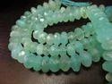 AAA Quality Natural Aqua Blue Chalcedony Far Size Beads
