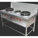 Chinese Three Burner Cooking Range