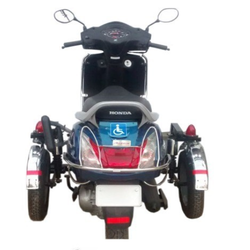 Side Wheel Attachment For Any Two Wheeler