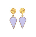 Fancy Shape Fuchsia Chalcedony Bug Style Insectgems Mix Lovely Indianna Earrings
